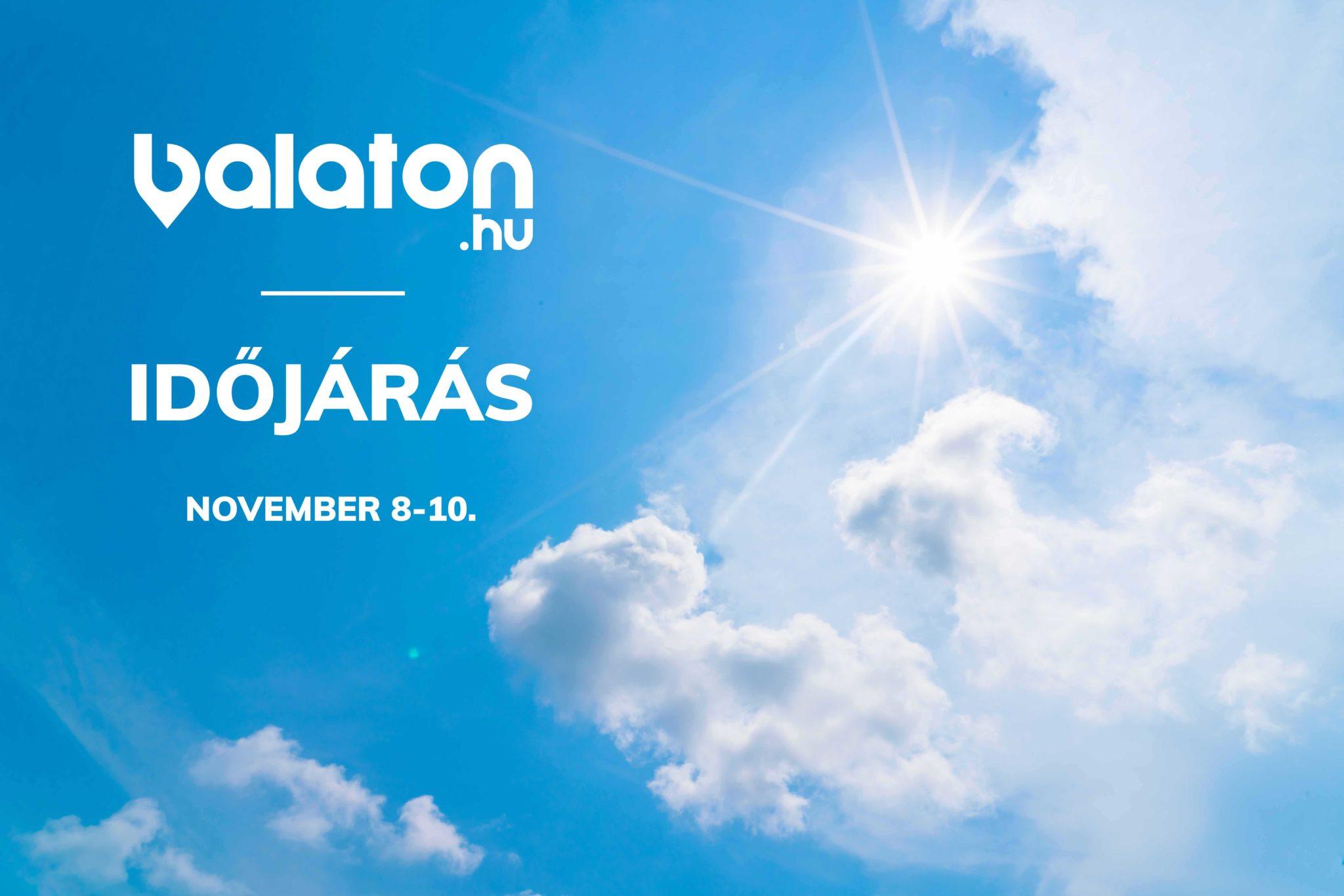 Időjárás a Balatonon – November 8-10.