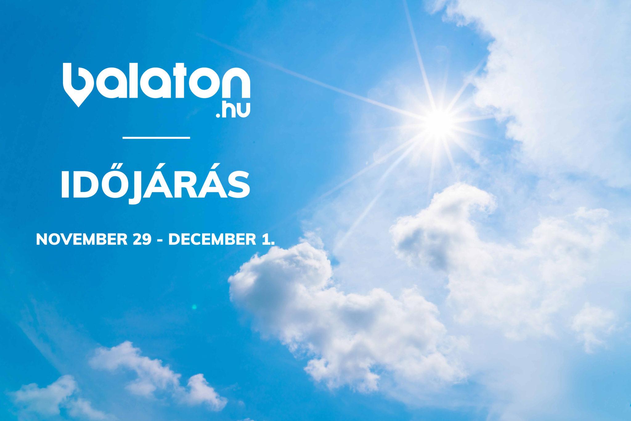 Időjárás a Balatonon – November 29 – December 1.