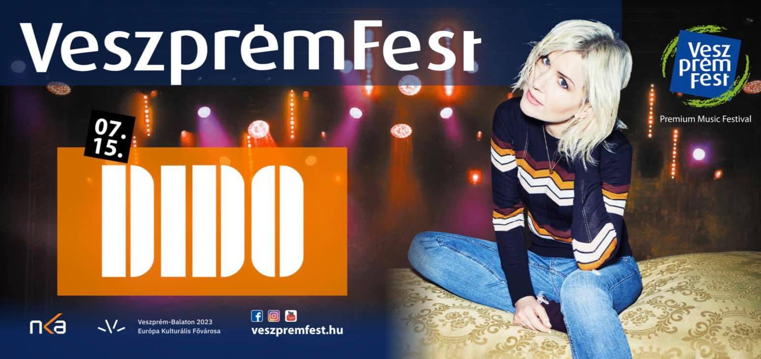 A brit világsztár, Dido is fellép a VeszprémFesten