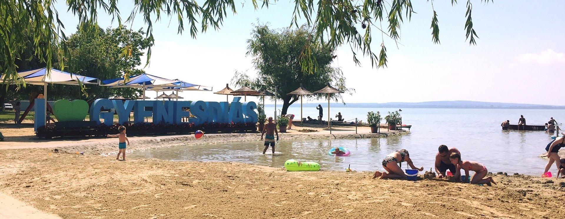 A gyenesdiási lett a legjobb strand a Balatonon
