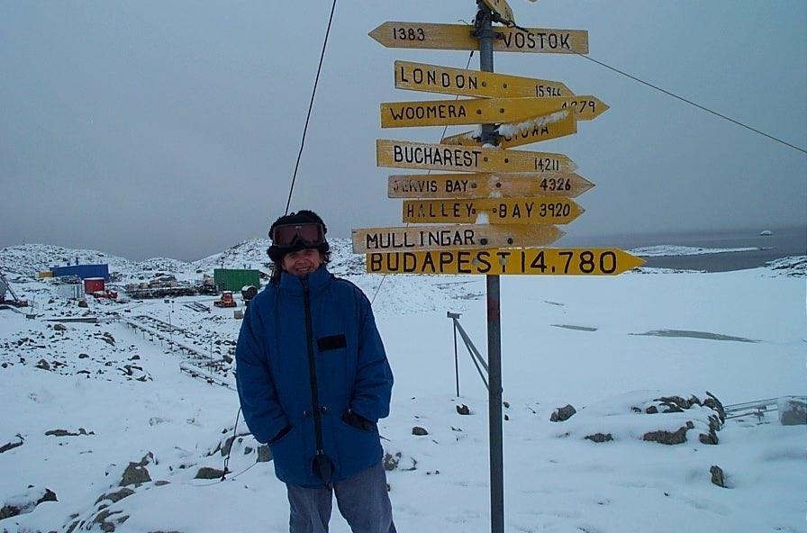 Hazatért Siófokra az Antarktisz kutatója