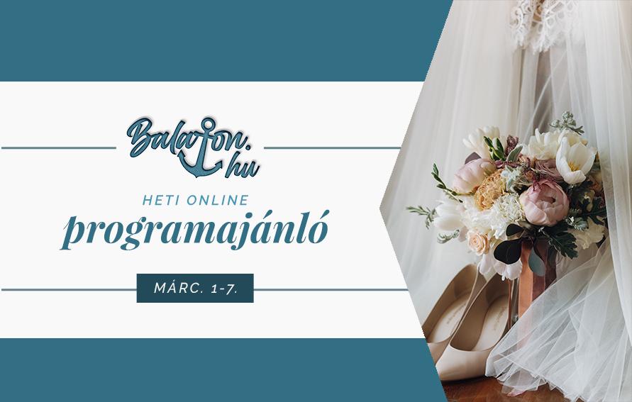 Online esküvőkiállítás és különleges borkóstolás vár a héten