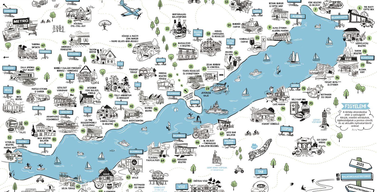 Minden eddiginél több hellyel jön az új Balatoni Gasztrotérkép