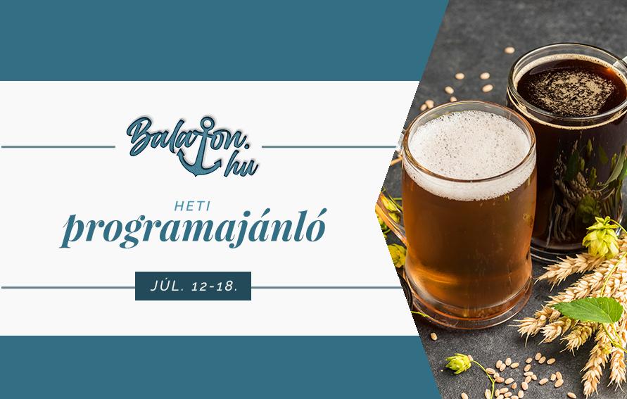 A héten sör- és design fesztivál, és kihagyhatatlan koncertek várnak a Balatonon